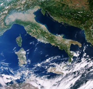 Italy and Mediterranean (Photo: ESA)